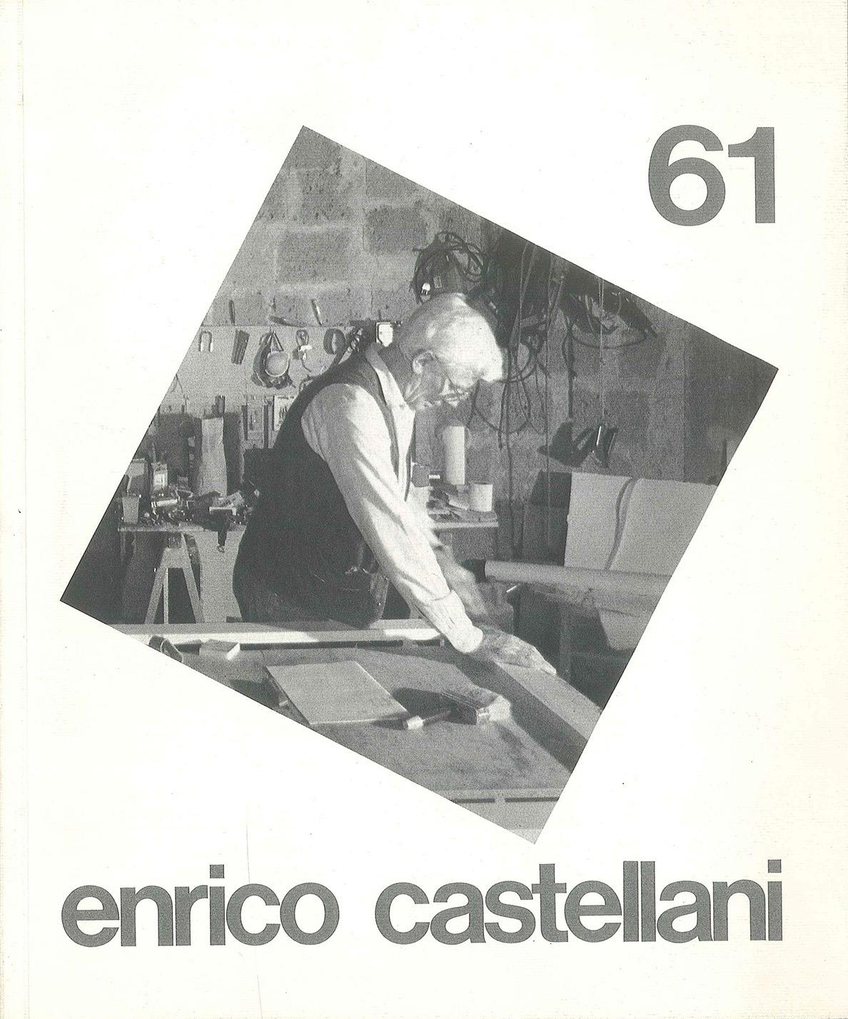 Cover - Enrico Castellani, Walter Guadagnini, Gillo Dorfles, Adachiara Zevi, 1991, Lorenzelli Arte,Milano