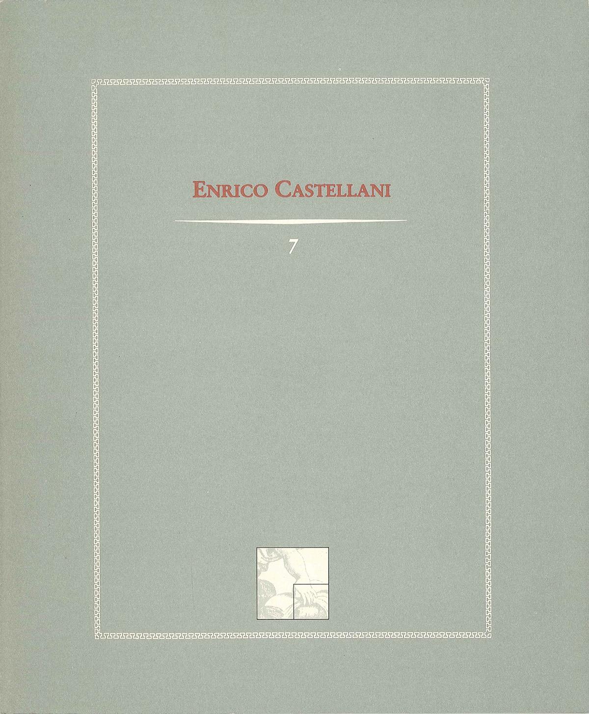 Cover - Enrico Castellani, Gillo Dorfles, Adachiara Zevi, 1991, Edizioni Netta Vespignani, Roma