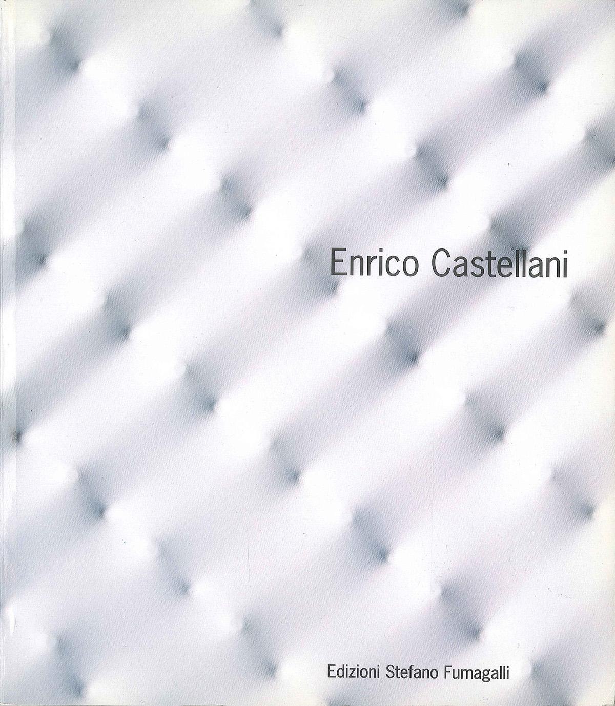 Cover - Enrico Castellani, Marco Meneguzzo, 1997, Edizioni Stefano Fumagalli, Bergamo