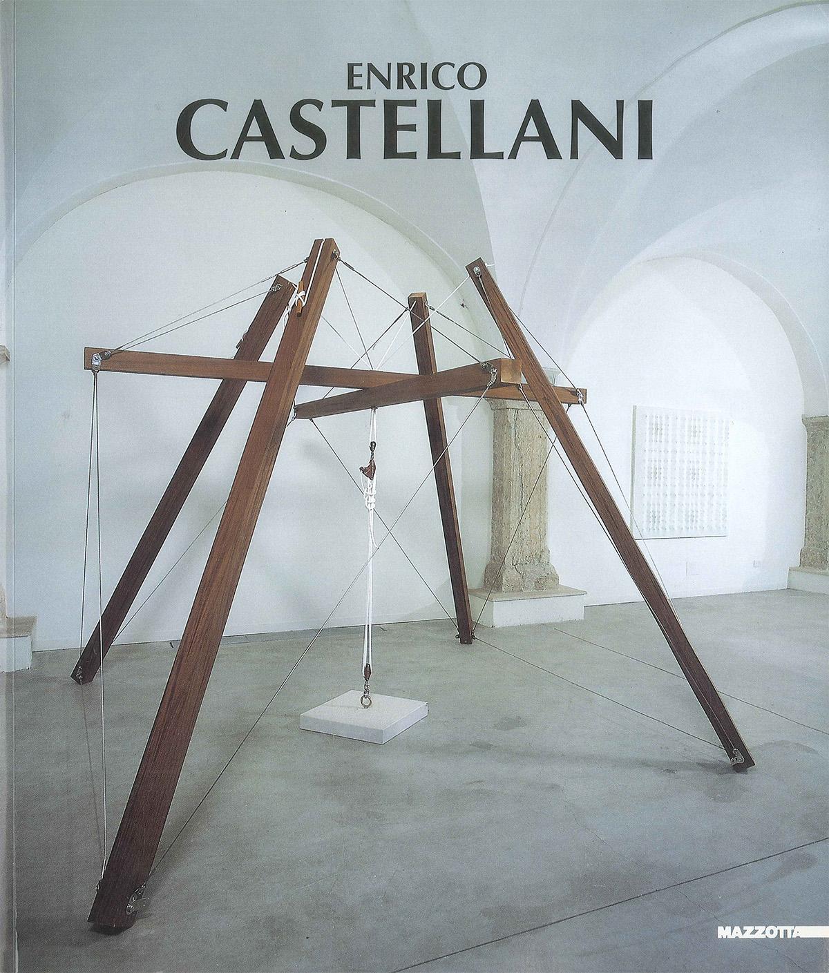 Cover - Enrico Castellani, Vittoria Coen, 1999, Galleria Civica di Arte Contemporanea, Trento, Edizioni Mazzotta, Milano