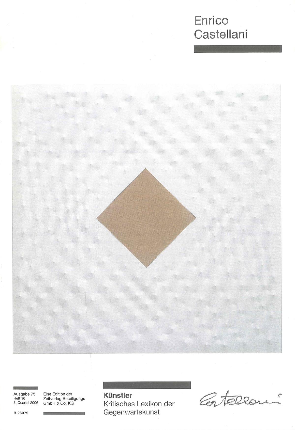 Cover - Enrico Castellani, Iris Simone Engelke, 2006, Zeitverlag Beteiligungs GmbH & Co., Monaco (DEU)